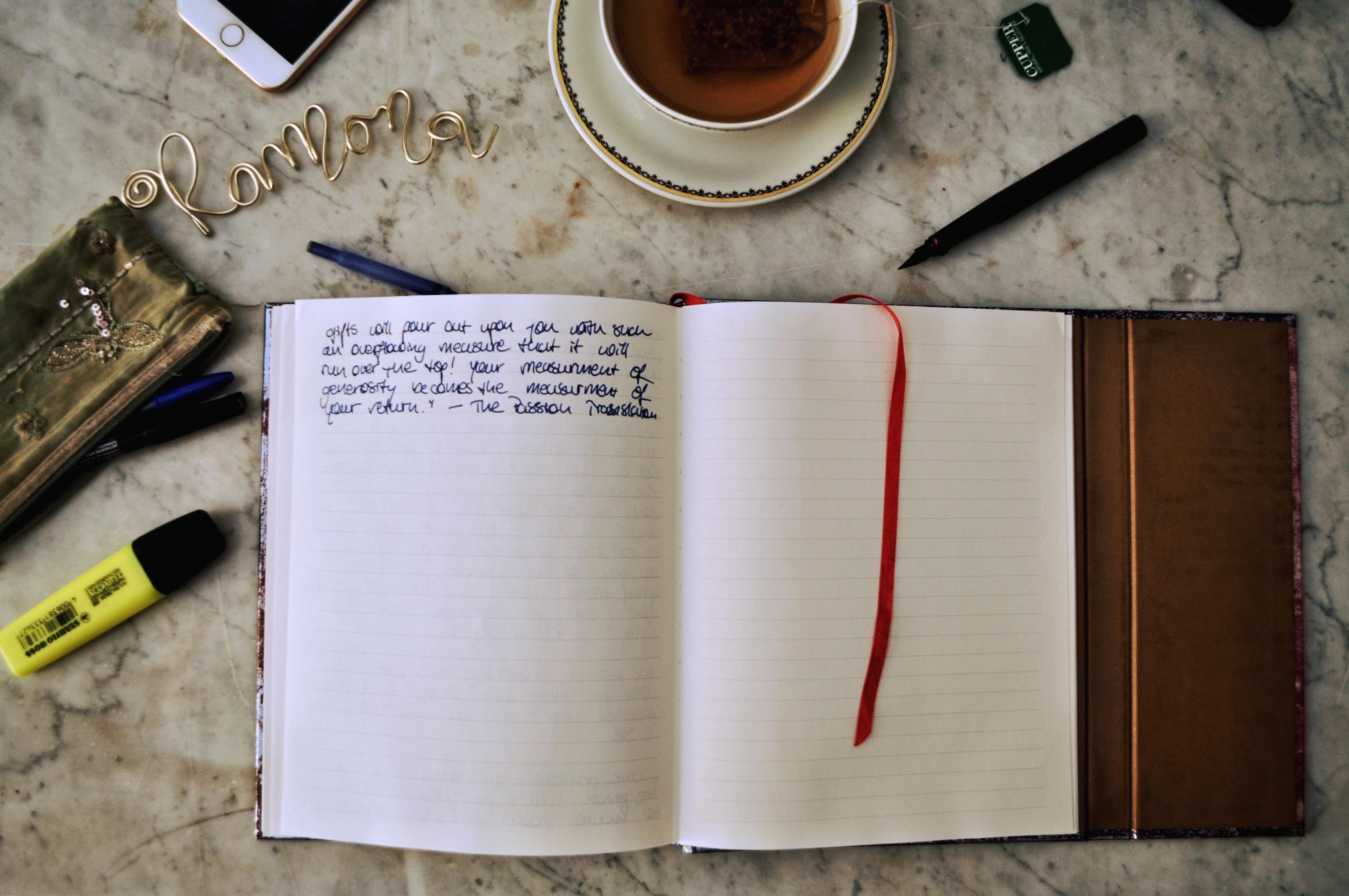 Tips on how to start journaling - tableseasons
