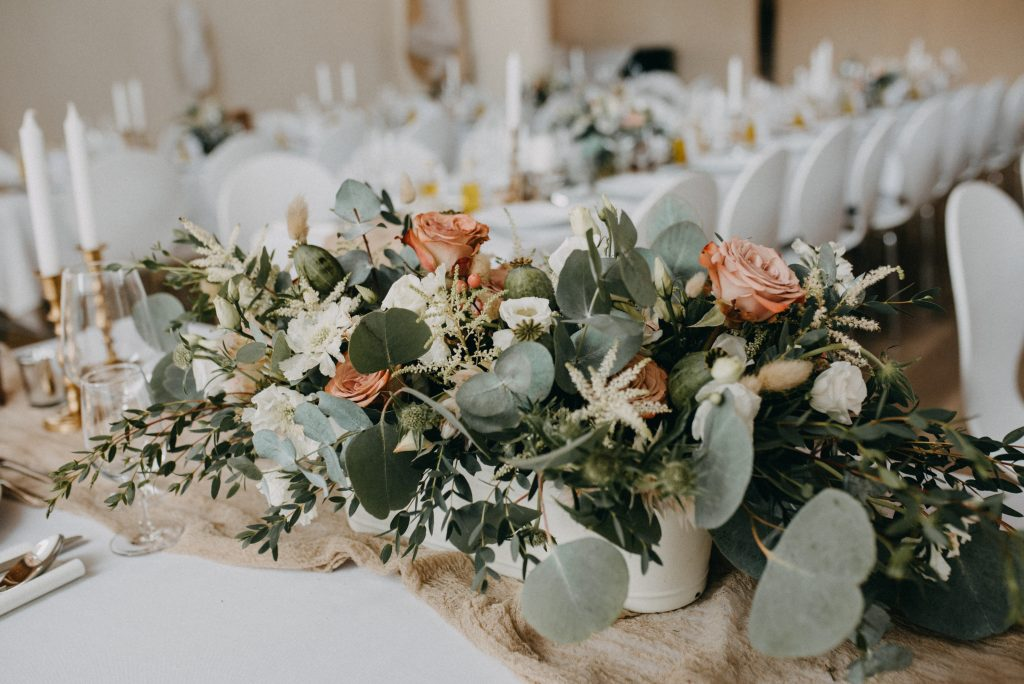 German vineyard wedding with boho touches table